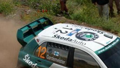 Toni Gardemeister za volantem Fabie WRC na shakedownu rallye Akropolis.