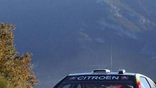 Belgičan Francois Duval na trati Rallye Monte Carlo 2005.