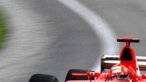 Michael Schumacher na trati Velké ceny USA.