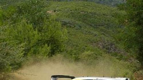 Carlos Sainz s citroenem na trati Turecké rallye.