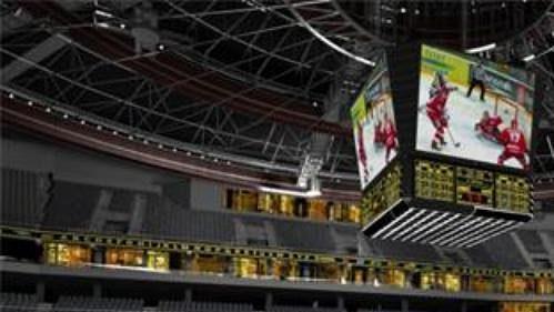 Předpokládaný pohled z komfortních sedadel v hale Sazka Arena
