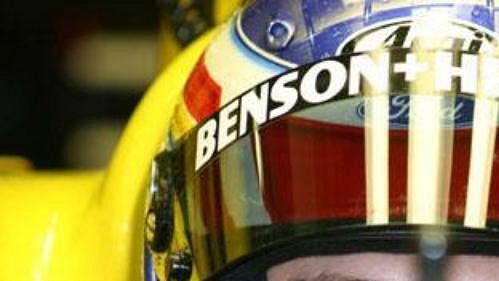 Jarek Janiš ve španělském Jerezu při testech ve stáji formule 1 Jordan.