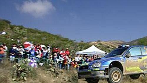 Fin Mikko Hirvonen na trati druhé etapy Mexické rallye.