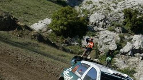 Němec Armin Schwarz na trati Turecké rallye.