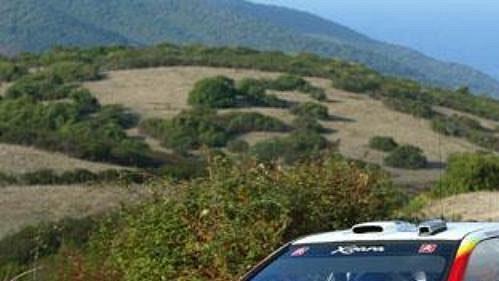 Loeb na trati Rallye Korsika.