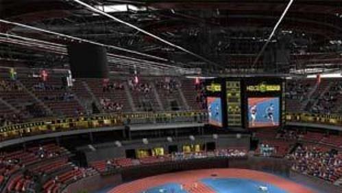 Využití plánované haly pro atletiku.