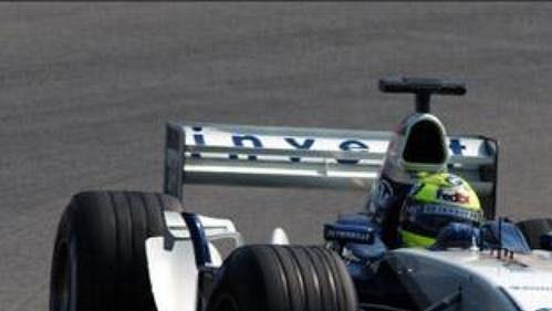 Ralf Schumacher při páteční kvalifikaci na okruhu Hockenheim.