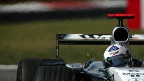 David Coulthard při páteční kvalifikaci na Velkou cenu Itálie.