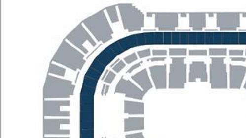 Rozmístění luxusních lóží, tzv. skyboxů, v hale Sazka Arena