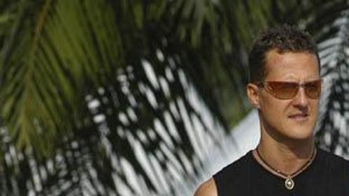 Michael Schumacher si v Sepangu užívá i volných chvilek.
