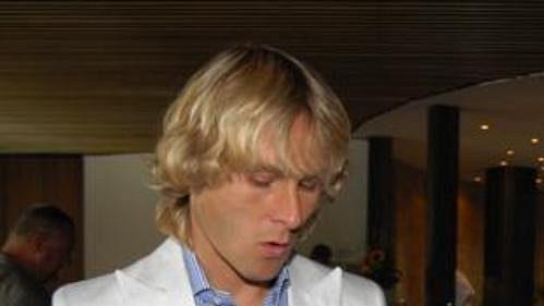 Pavel Nedvěd a trenér Karel Brückner.