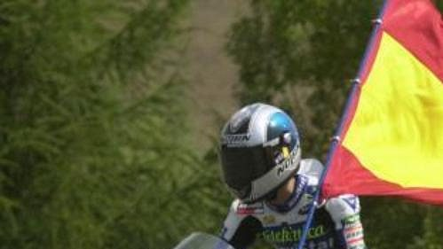Španěl Daniel Pedrosa ve Velké ceně ČR vyhrál závod třídy do 125 ccm.