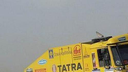 Aleš Loprais s kamiónem Tatra na trati 9. etapy Rallye Dakar.
