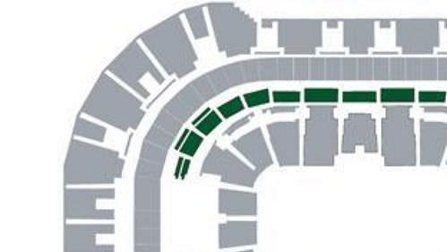 Rozmístění klubových sedadel v hale Sazka Arena