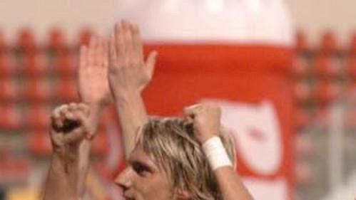 Radost fotbalistů Sparty po zaslouženém vítězství v derby se Slavií.