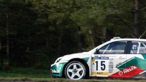 Toni Gardemeister na trati Katalánské rallye.