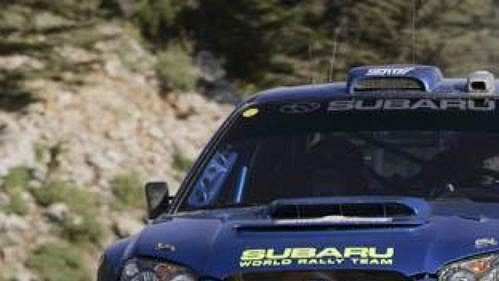 Petter Solberg se subaru na trati Turecké rallye.