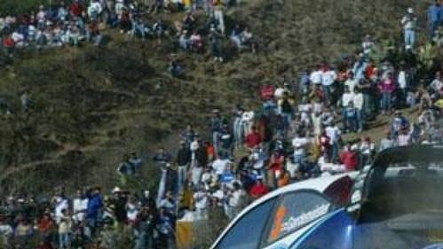 Toni Gardermeister s fordem na trati Mexické rallye.