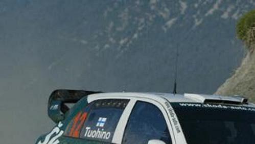 Fin Janne Tuohino na trati Turecké rallye.