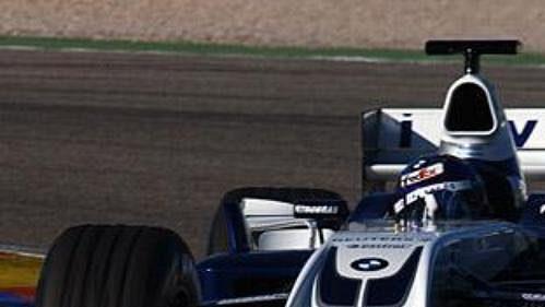 Pilot Juan Pablo Montoya při testování nového monopostu FW26 týmu BMW WilliamsF1.