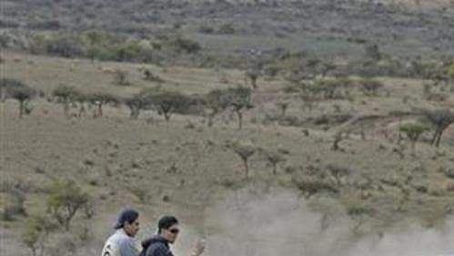 Nor Peter Solberg se subaru na trati první rychlostní zkoušky Mexické rallye.