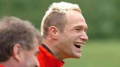 Jan Polák při tréninku české fotbalové reprezentace v Seefeldu.