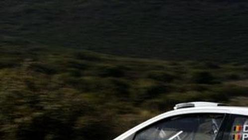 Duval na trati Rallye Korsika.