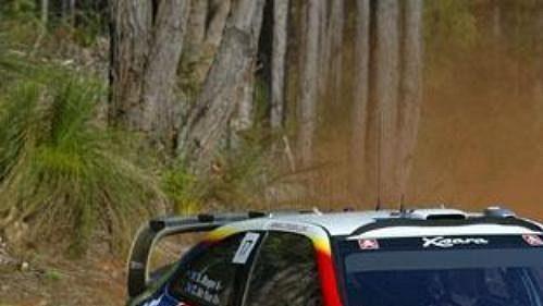 Brit Colin McRae s Citroënem Xsara na trati Australské rallye.