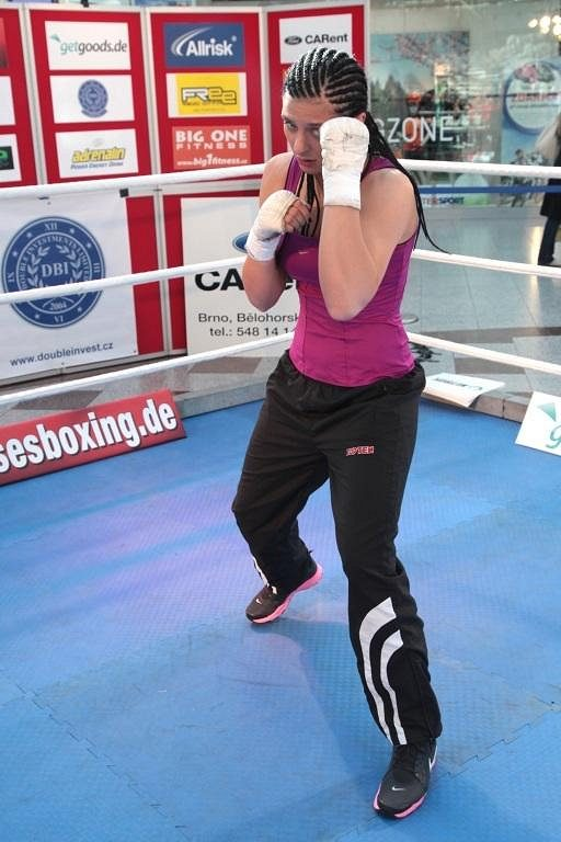 Christina Hammerová při tréninku.