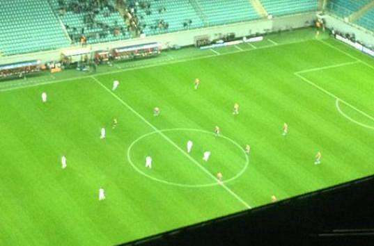 Takovýto pohled se nabídl fanouškům Bayernu na zápas s CSKA.