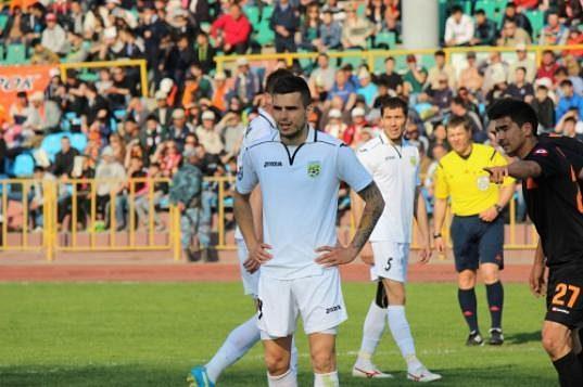 Jiří Jeslínek v dresu Tobolu Kostanaj v nejvyšší soutěži Kazachstánu.