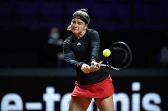 Česká tenistka Karolína Muchová v akci.