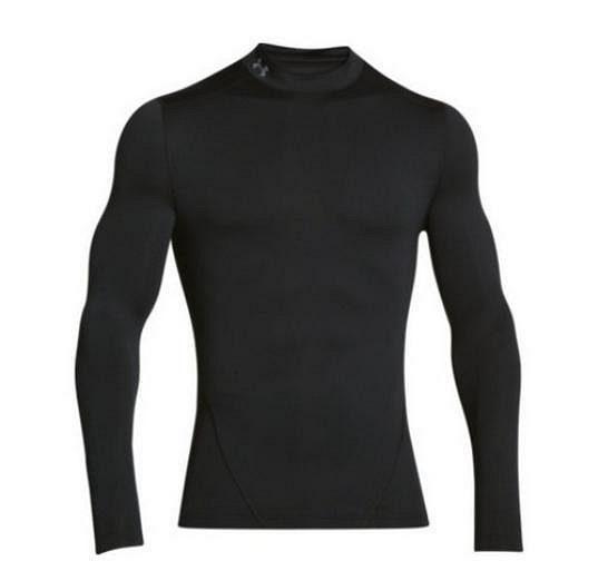 Pánské tričko Under Armour ColdGear Evo Compression Mock v černém provedení.
