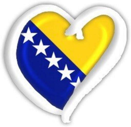 Srdce v barvách Bosny a Hercegoviny z Twitteru Edina Džeka.