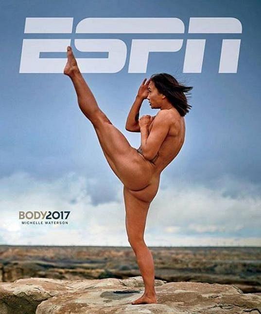 Michelle Watersonová, na titulní stránce časopisu ESPN.