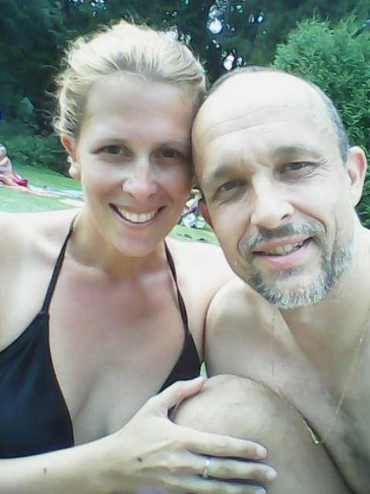 Šárka Grygarová s manželem.