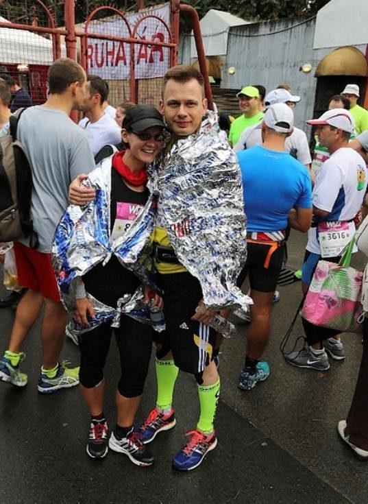 Společně v cíli maratonu v Budapešti.
