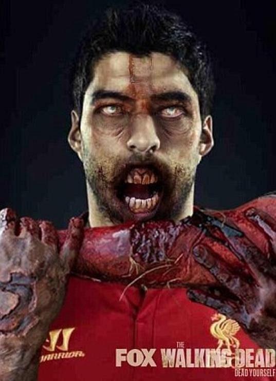 Suárez by si zasloužil jednu z rolí v oblíbeném seriálu Walking Dead, kde se lidé po následcích apokalypsy mění v zombie.