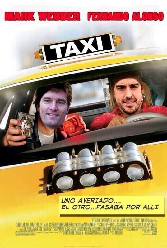 Taxi! V hlavních rolích - Mark Webber a Fernando Alonso!