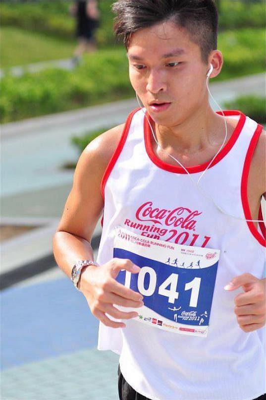 Jan Lam při běžecké akci v Hongkongu.
