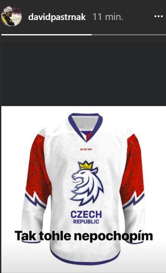 Hokejový reprezentant a útočník Bostonu David Pastrňák vyjádřil svůj názor na novou image českého hokeje na svém instagramu.