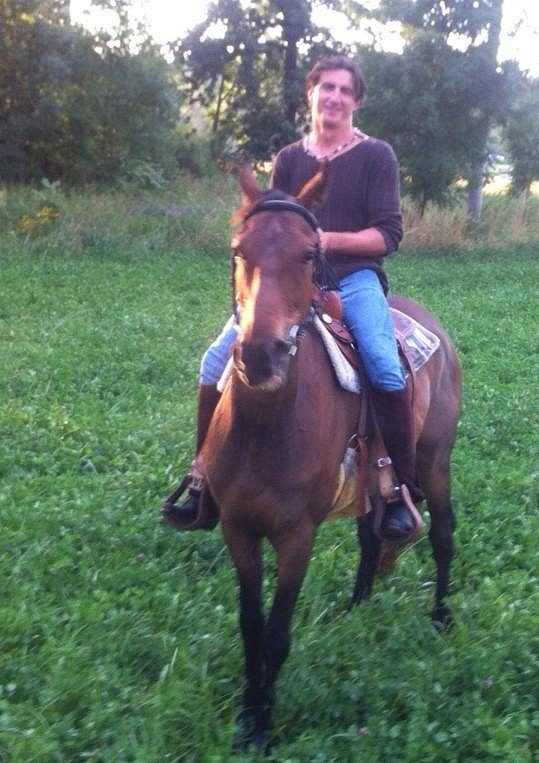 Relax v sedle koně Pepiho.