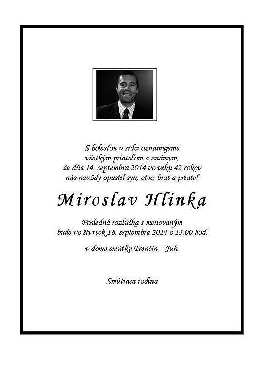 Parte Miroslava Hlinky.