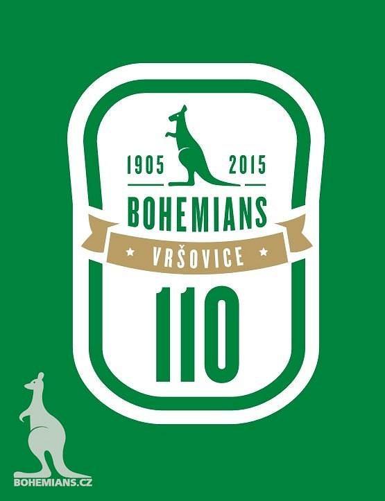 Nové logo Bohemians 1905 k příležitosti oslav 110 let od založení vršovického klubu.