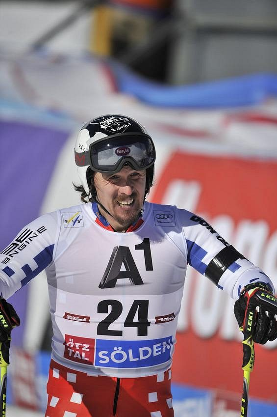 Český lyžař Ondřej Bank.