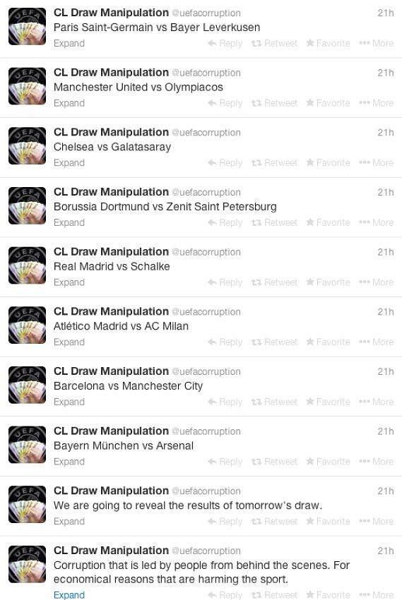Na Twitteru se složení osmifinálových skupin objevilo už 24 hodin před losem.