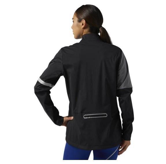 Dámská běžecká bunda Reebok Vizlocity Jacket - pohled zezadu.