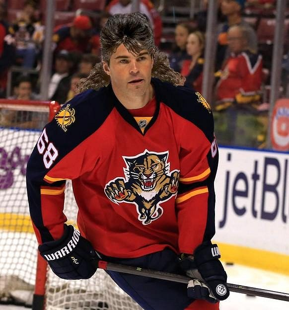 """Takhle by podle serveru sbnation.com mohl vypadat """"vlasatý"""" Jaromír Jágr v dresu Floridy Panthers..."""
