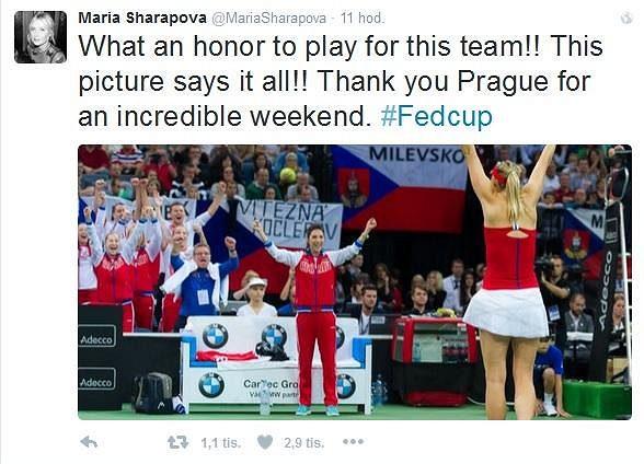Finále Fed Cupu si Maria Šarapovová i přes prohru užila.