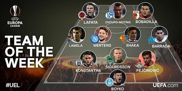 David Lafata si vystřílel nominaci do sestavy týdne Evropské ligy.